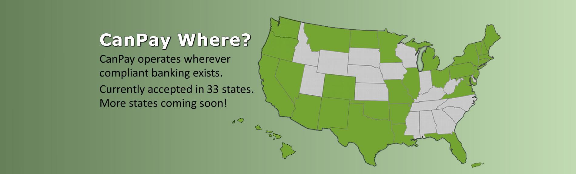 CanPay Debit - US Map